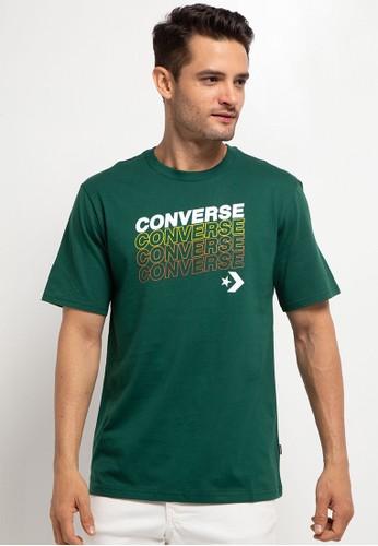Converse green Repeat Wordmark Short Sleeve Tee 428FCAA705E6F3GS_1