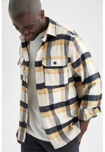 DeFacto yellow Long Sleeve Shirt 6E480AAEB43F45GS_1