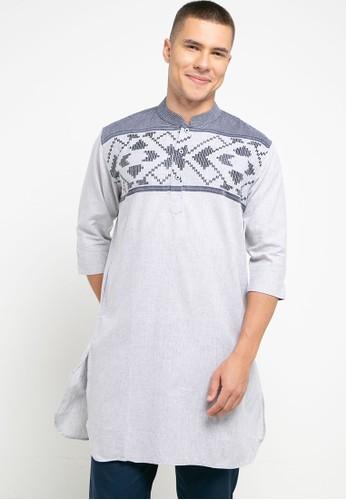 Introspect clothing navy Kemeja Koko 02B73AA176CACEGS_1