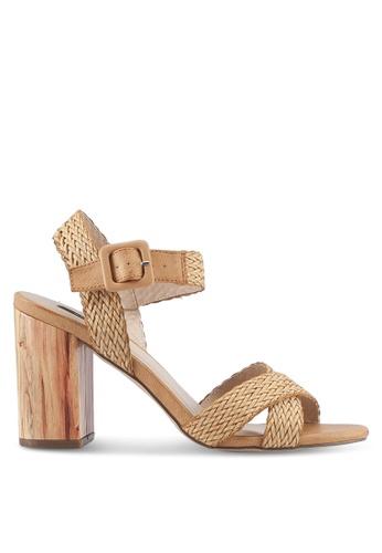 ZALORA beige Weaved Strappy Heels C58B5SH10B6CD3GS_1