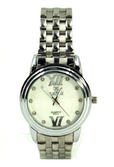 Valia Jess Unisex White Stainless Steel Strap Watch 8222-2