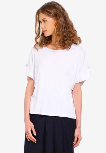 ESPRIT white Short Sleeve T-Shirt 1E34CAA13E7E8EGS_1