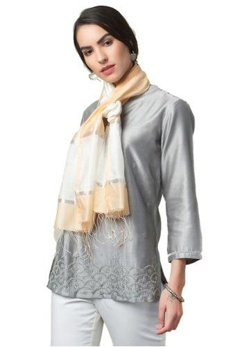 Fabindia Modal Silk Woven Stole CDEE2AC0F4AC5EGS_1