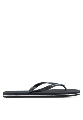 Billabong black Low Down Splice Thongs BI783SH0SXISMY_1