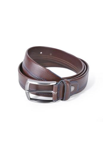 Charles Berkeley brown Charles Berkeley Men's Belt Genuine Leather-1242 C7F69AC3262F7CGS_1