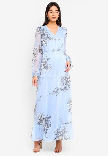Vero Moda blue Satina Ls Maxi Dress FEF7DAA24D4A92GS_1
