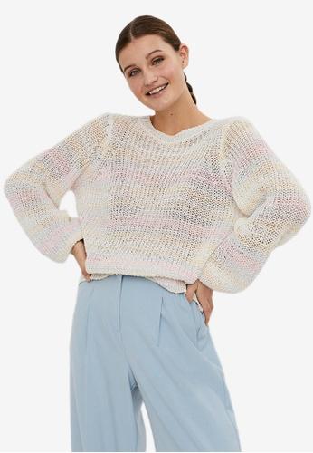 Vero Moda beige Nadia Knit Pullover 6355AAA6690337GS_1