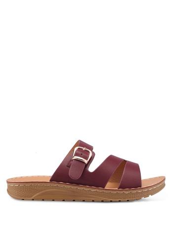 Noveni 紅色 休閒涼鞋 857AESHE8A5ED3GS_1