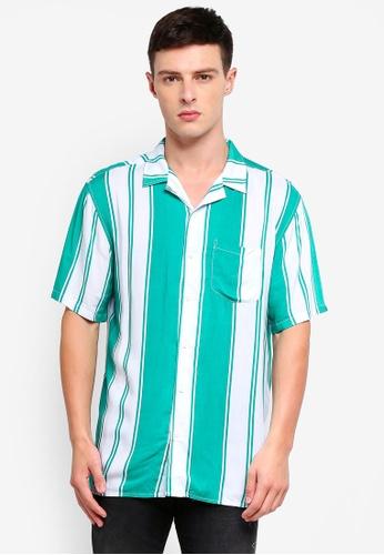Cotton On 綠色 條紋襯衫 41D03AA250BD5EGS_1
