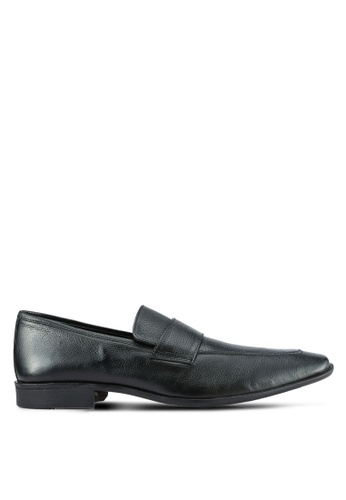 ZALORA black Soft Cowhide Leather Dress Loafers 3FFB8SHFC5B0A1GS_1