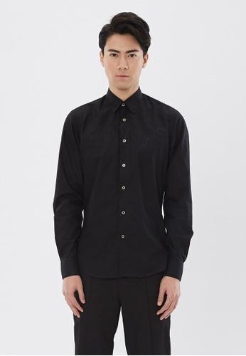 Flawless Flashbacks. black Black Signature Embroidered Shirt E9AB1AAE3229B5GS_1