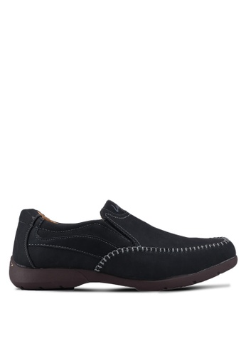 Louis Cuppers black Slip On Casual Shoes 3D42DSH0E6BE49GS_1