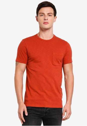 J.Crew 紅色 休閒口袋T恤 0F9EBAAE1AB58AGS_1