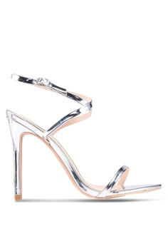 f11d46a592cef MISSGUIDED silver Pointed Toe Barely There Heels 6E84CSH137740FGS 1