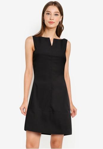 ZALORA WORK black Cut In Mini Dress 3A61AAAB953C72GS_1