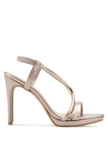 VINCCI gold Strappy Heels 65D9FSH5E584B6GS_1