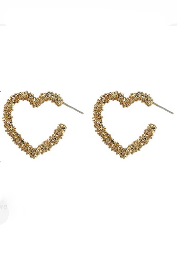Sunnydaysweety gold Heart Ring Stud Earrings CA030216 7459DAC3A7DEF2GS_1