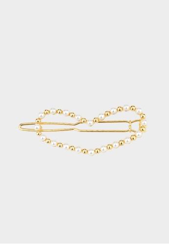 Pomelo multi Flat Heart Pearl Hair Clip - Gold 9F389AC949A096GS_1