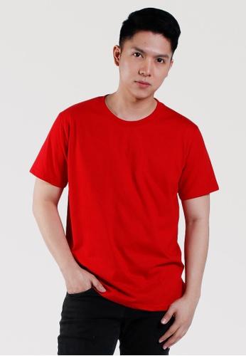 CROWN red Men's Round Neck Tshirt ED0BAAADB65D17GS_1