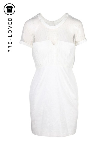 The Kooples white Pre-Loved the kooples White Bustier Dress With Net Overlay E0F15AAD913223GS_1