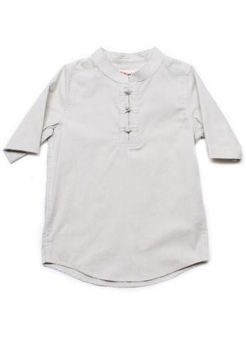 Mini Moley beige Oriental Style Boy's 3/4 Sleeve Shirt 98382KAB93FB7FGS_1