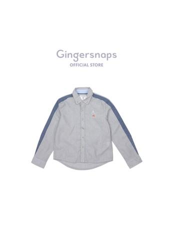 Gingersnaps blue Neo Japonique Woven Shirt Navy Blue 92D6FKA8886592GS_1