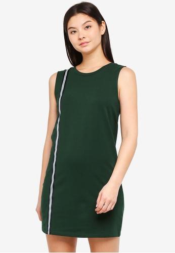 Something Borrowed green Stripe Trim Tank Dress 43CA2AA80F9D68GS_1