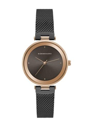 BCBG black BCBGMAXAZRIA Rose Gold and Black Watch F2E90AC21F6052GS_1
