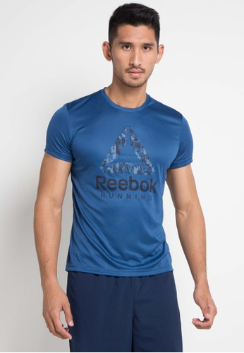 Reebok blue Run Graphic Tee E2D1CAAE8B4E71GS_1