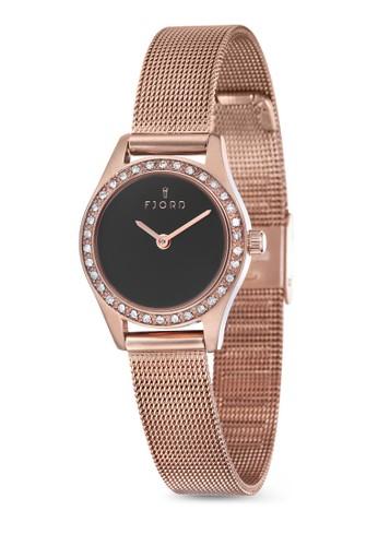 MARINA esprit hk金屬網眼水鑽圓錶, 錶類, 飾品配件