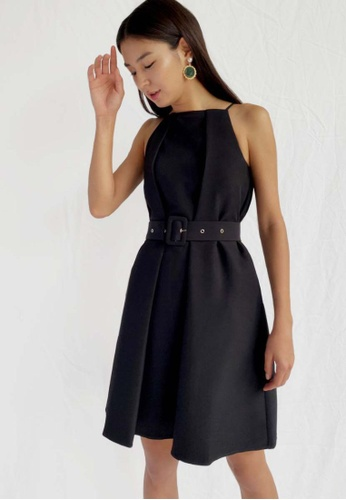 Love, Bonito black Madilyn Belted Shift Dress 13CD0AA5497A01GS_1