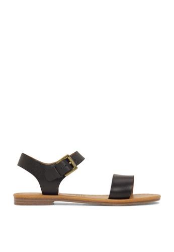 ROC Boots Australia black Ellie Black/Natural Sandal RO289SH45BPYSG_1