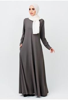 1d6dee85456 Imaan Boutique grey Linear Dress Moonstone Grey 236D1AA75FA67EGS 1