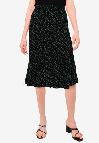 URBAN REVIVO black Casual Skirt 308AAAA49B51EEGS_1