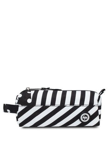 Just Hype black and white Ship Stripe Pencil Case 7A6D0AC1B67817GS_1