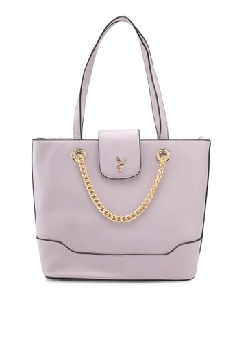 PLAYBOY BUNNY purple Playboy Bunny Ladies Handbag 7EEEBAC273100BGS_1