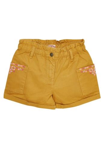 Du Pareil Au Même (DPAM) yellow Embroidery Shorts B7D48KA8C0DD55GS_1