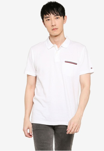 Tommy Hilfiger white Regular Fit Pocket Polo Shirt D0B87AA113E20DGS_1