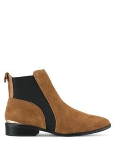 harga Flat Suede Boot Zalora.co.id