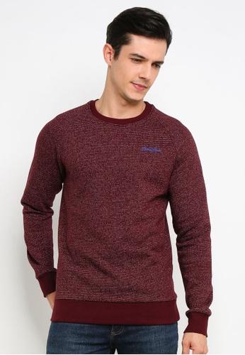 Jack & Jones 紅色 Hide 圓領Sweater 59C59AA85E49F1GS_1