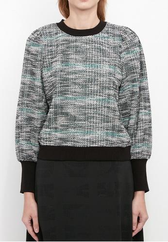Dkny black DKNY Women Puff Sleeved Sweatshirt 4E1F2AAB3CAA8CGS_1