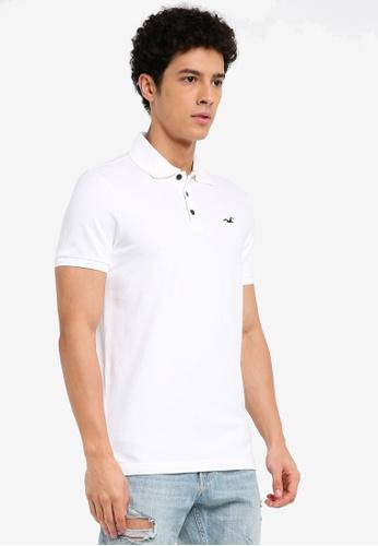 Hollister white Core Polo Shirt 5F066AA2DF9577GS_1