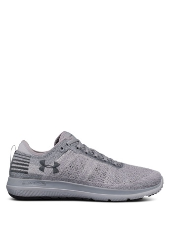 Under Armour grey UA Threadborne Fortis Shoes UN337SH0SU3JMY_1