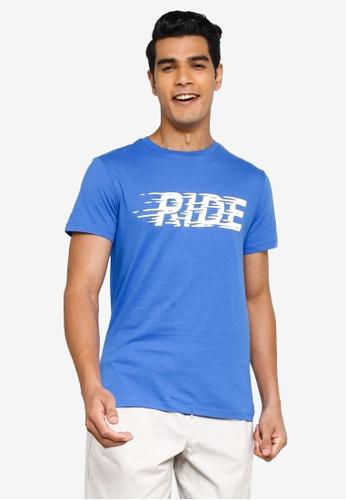 KOTON blue Ride T-Shirt 6B202AA4020D5EGS_1