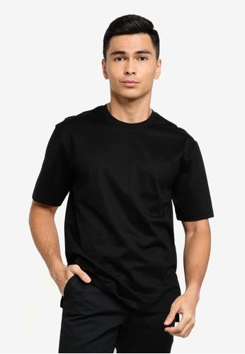 ck Calvin Klein black SILK BLEND MERCERISED TOP WITH LOGO E5889AACD822DFGS_1