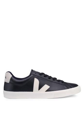 b0c213e02e Veja black Esplar Leather Sneakers CDDE2SH37160E5GS 1