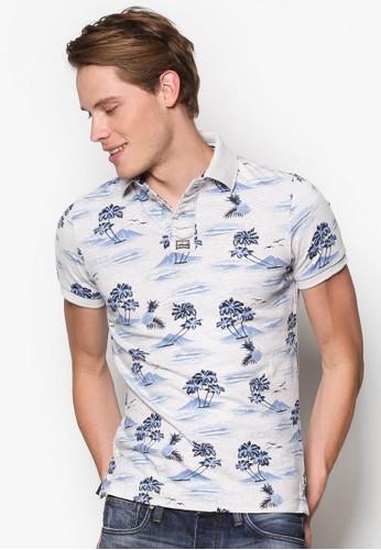 Aloha 印花POLO 衫, 服esprit 衣服飾, 服飾