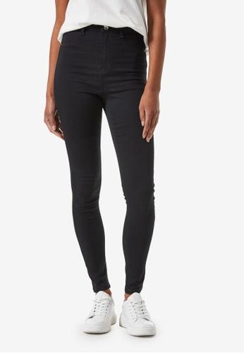 Dorothy Perkins black High Waist Frankie Jeans 7CECFAA69DE03BGS_1