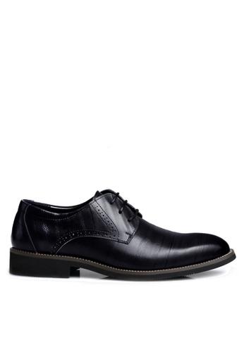 Twenty Eight Shoes 黑色 牛皮英倫風沖花牛津鞋  VMF2538 FB2DESHA39B43DGS_1