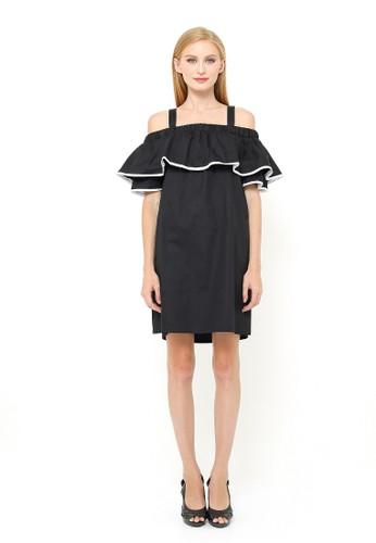 madeleine white Celia Dress Black MA534AA0UNGBID_1